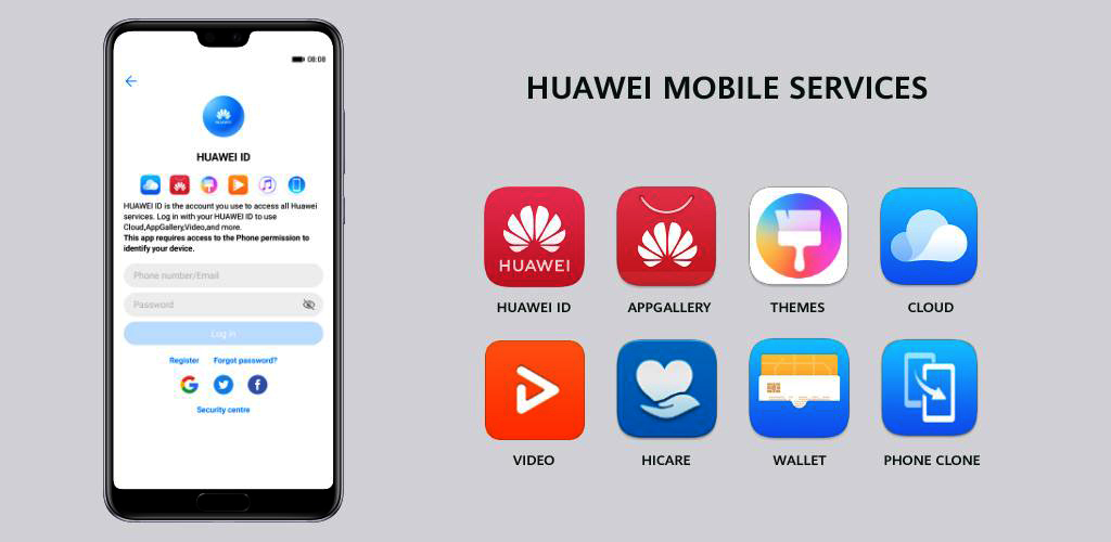 Huawei Mobile Service - แอปพลิเคชัน